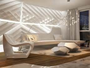 Home Interior Wall Design by Futuristic Interior Design