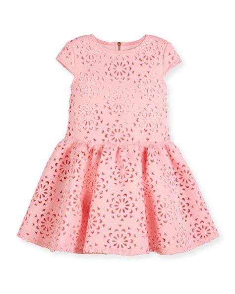Dress Moni Laser 4 Wrn david charles cap sleeve neoprene laser cut dress pink