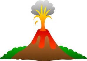 Volcano erupting with lava free clip art