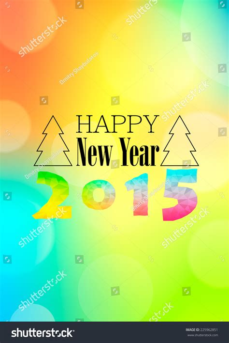 new year 2015 characters greetings happy new year 2015 colorful greeting stock vector