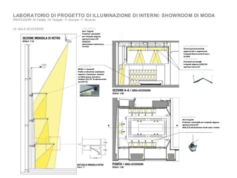 progetto illuminazione presentazione master