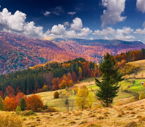 amazing color for the fall landscape landscaping ideas colorful autumn landscape in the mountains stock photo