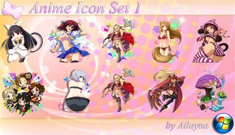 anime icons set rocketdock com anime icon set 1 by ailayna on deviantart