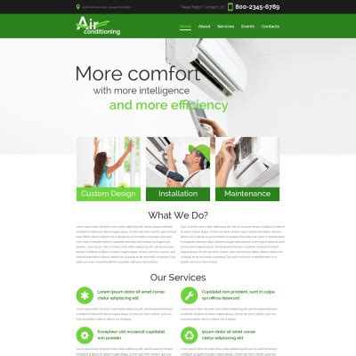 Air Conditioning Website Templates Heating And Air Conditioning Website Templates