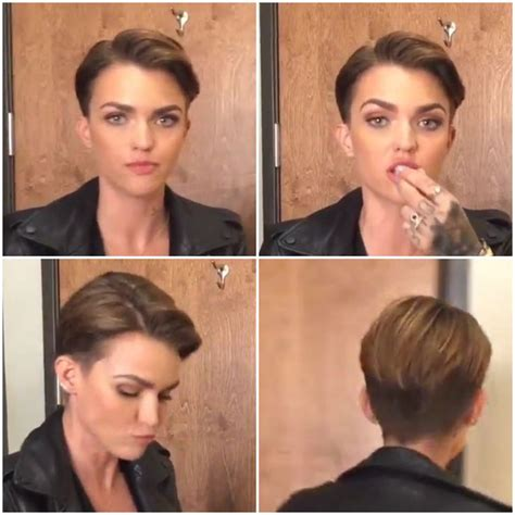ruby rose before after haircuts 43 best gender neutral haircuts images on pinterest