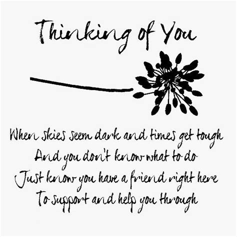 Thinking Of You Verses For Handmade Cards - thinking of you times card