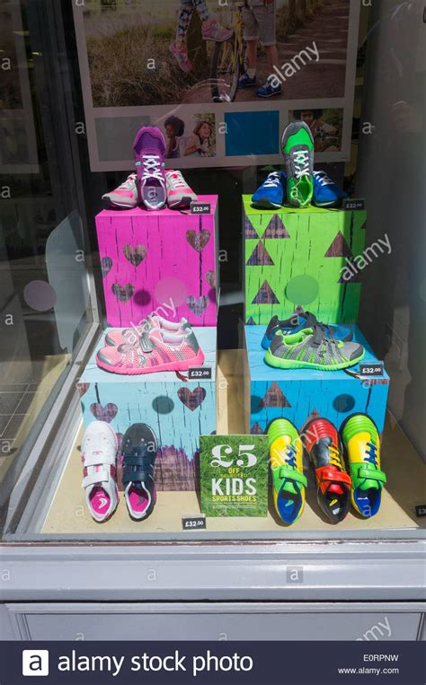 kid shoe stores children s shoes in a shoe shop window display