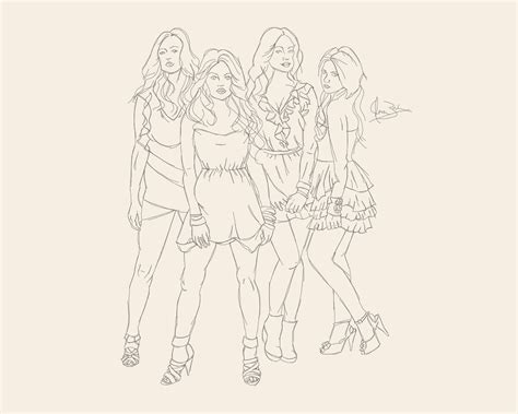 Pretty Liars Printable Coloring Pages work in progress pretty liars the liars by