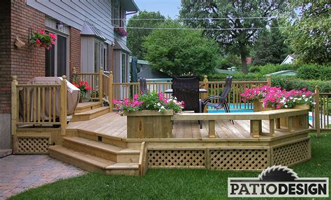 patio designs photos conception fabrication et installation de patio autour d