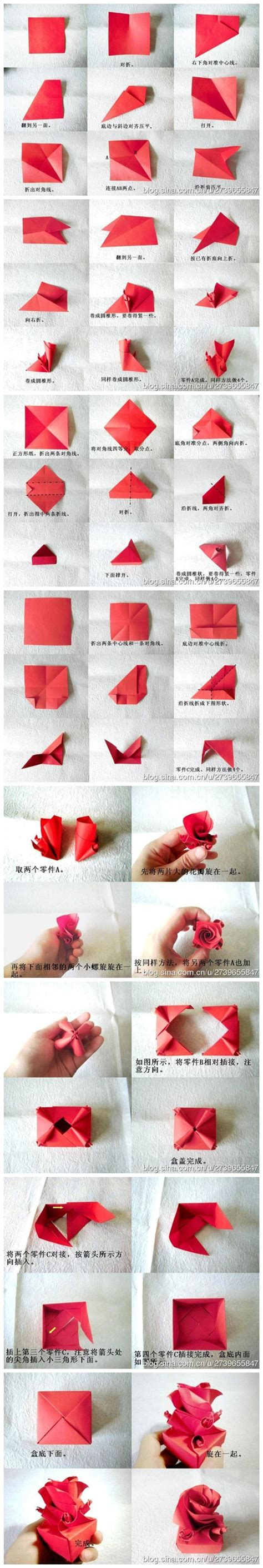 Paper Crafts Tutorials - how to fold origami paper craft box for