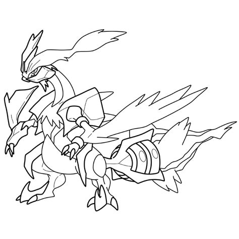 pokemon coloring pages black kyurem pokemon white kyurem free colouring pages