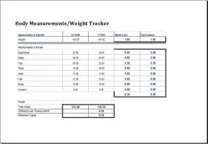 measurement template measurement and weight tracker template excel templates