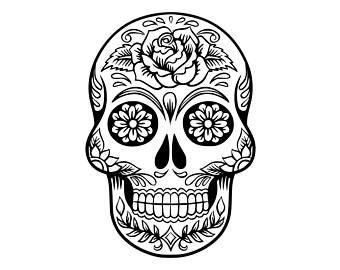 Sticker Cutting Terror Skull sugar skull svg etsy