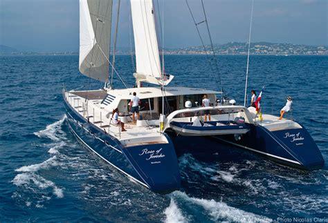 catamaran luxury yacht rose of jericho catamaran yacht photo nicolas claris