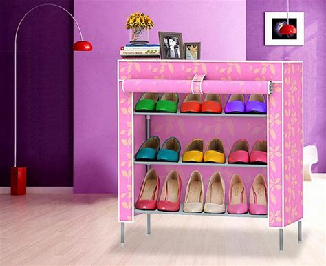 living room shoe storage 4 layers 3 grids shoe rack with cover living room shoes