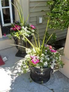 Exterior Flower Pots Outdoor Flower Pot Arrangement Garden