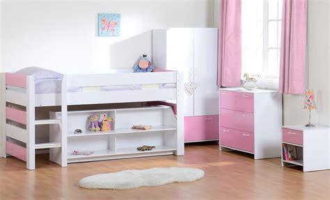 Lollipop Mid Sleeper Pink by Lollipop Mid Sleeper Bedroom Set Jb Furniture