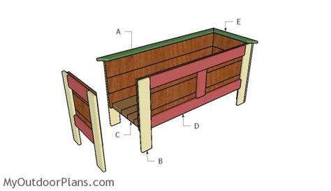 wood planter box plans myoutdoorplans  woodworking