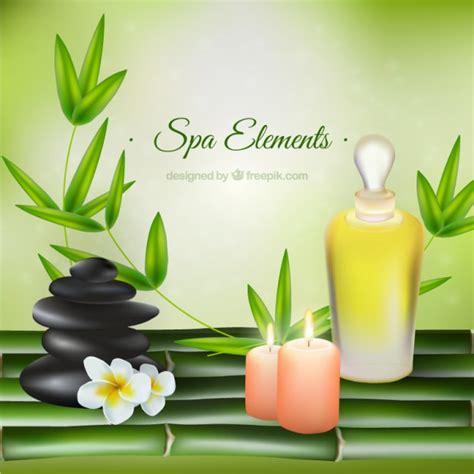 spa con productos de belleza realistas de spa con decoraci 243 n