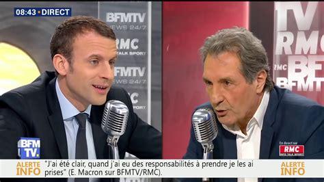 emmanuel macron jean jacques bourdin interview d emmanuel macron par jean jacques bourdin bfmtv