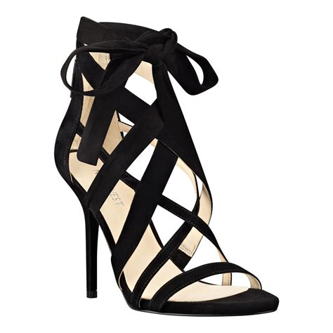 Nine West 1 nine west rustic strappy sandals in black jj3awa0 1 lyst