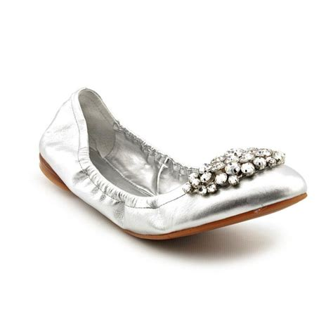 silver shoes flats nine west faycie textile silver ballet flats flats