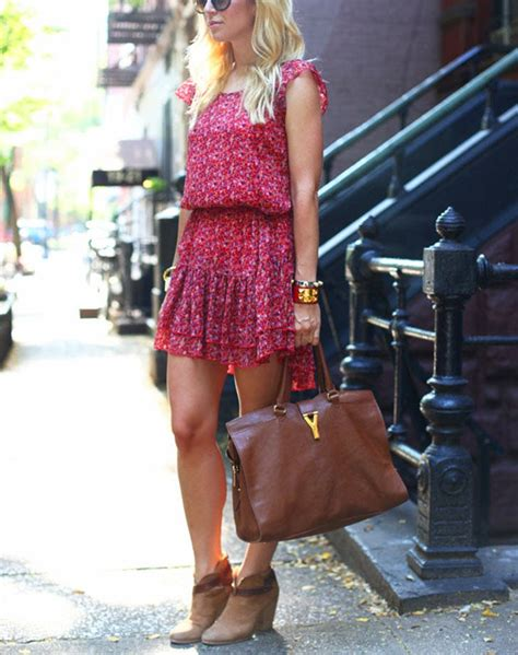 how to wear ankle boots with dresses fashion purewow