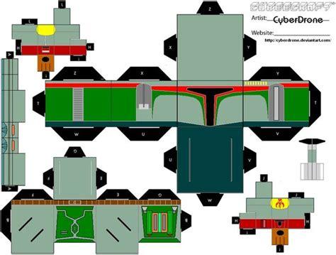 Boba Fett Papercraft - cubee boba fett by cyberdrone on deviantart
