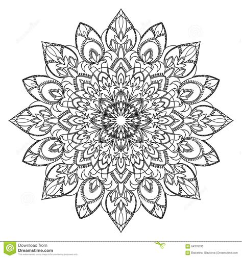 abstract circle coloring page abstract circle ornament stock vector image of floral