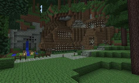 mountain side house wooden mountain side house minecraft project
