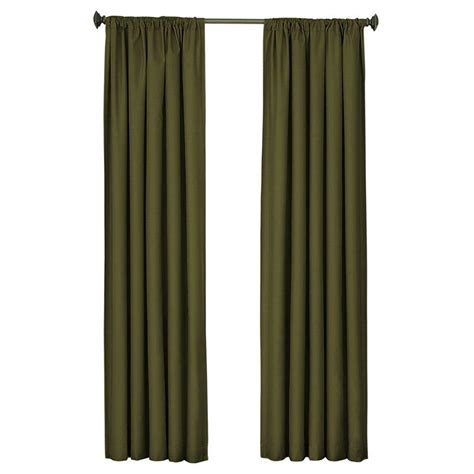 blackout curtains home depot eclipse kendall blackout artichoke curtain panel 95 in