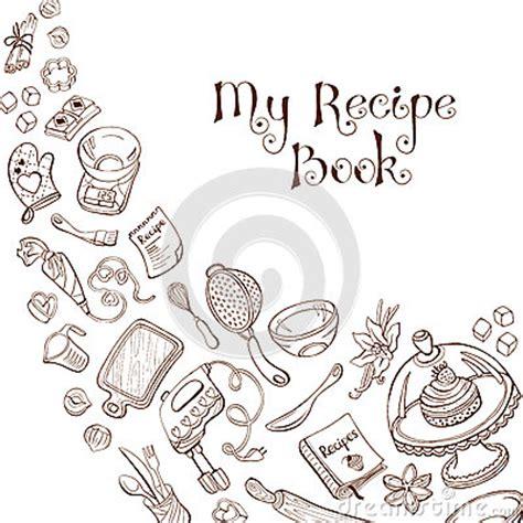 recipe design template recipe book template stock vector image 61698774