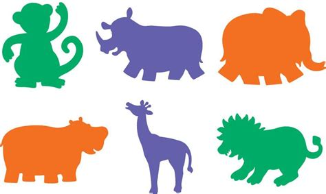 free printable zoo animal cutouts printable jungle animal stencils for diy wall art