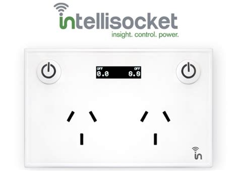 smartphone controlled outlet intellisocket smart outlet can be controlled via your