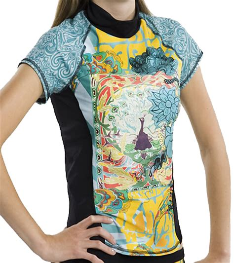 girls4sport zen garden s srashguard with shelf at