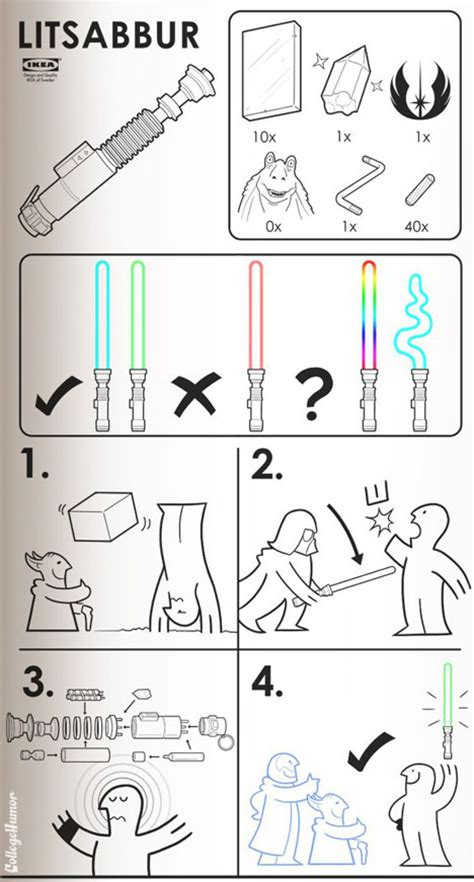 Ikea Instructions Meme - ikea geek 4 more fun fake manuals for the sci fi inclined