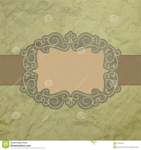 Template Of Vintage Worn Card Eps 8 Stock Photography Image 21321392 Vintage Card Templates