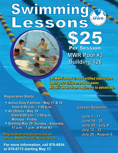 Recreation Redstonemwr S Blog Swim Lesson Flyer Template Free