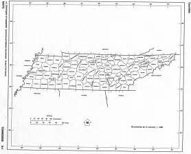 County Map Tennessee by Tennessee Free Map