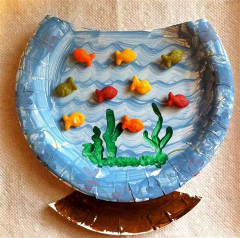 paper plate fish template dr seuss crafts for hative