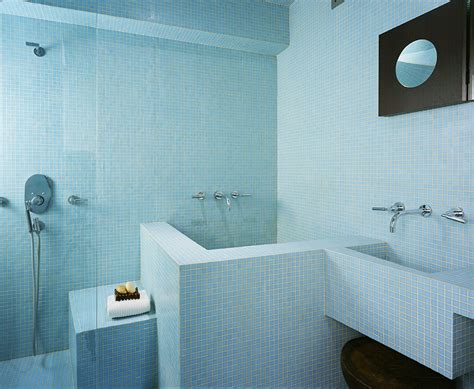 Blue Tub Bathroom by Small Soaking Tubs Bathroom Modern With Blue Glass Mosaic