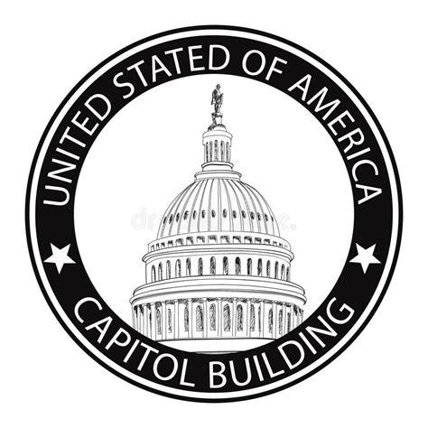 rubber st legislature washington dc capitol usa landmark st label stock