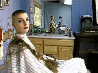 female in barber chair getting buzzcut 406 best images about hair cutting on pinterest