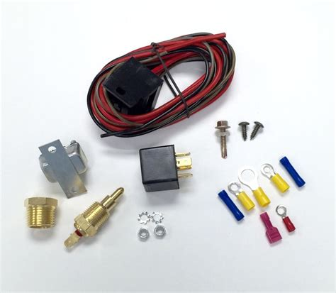 electric fan relay install rod electric cooling fan wiring install kit 200 185