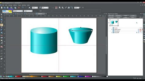How To Make A 3d Cylinder Out Of Paper - xara how to draw a cylinder