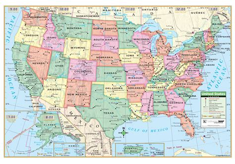 map usa rolled us political rolled map laminated kappa map