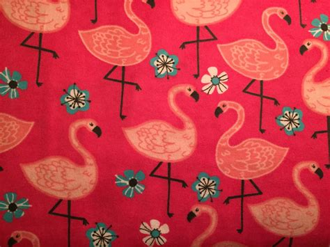 Flamingo Quilt Fabric by Flannel Pink Flamingo Fabric Pink Flamingo Flannel Pink