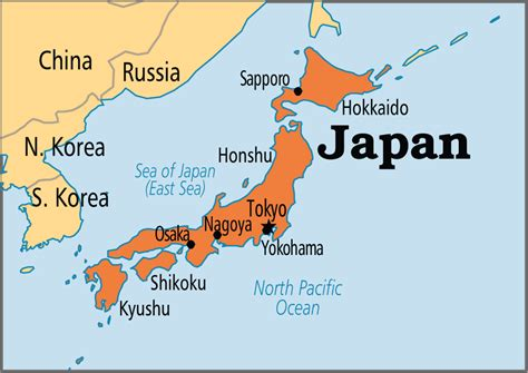 japan on a world map tokyo japan world map