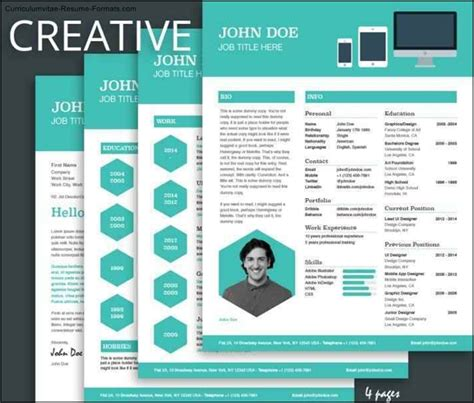 Free Cool Resume Templates by Free Cool Resume Templates Free Sles Exles