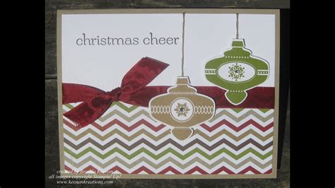 super easy stampin  christmas card youtube